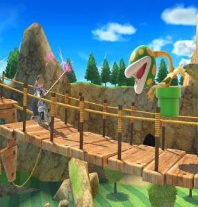 Corrin vs piranha plant Wuhu Island Stage super Smash Bros ultimate Nintendo Switch