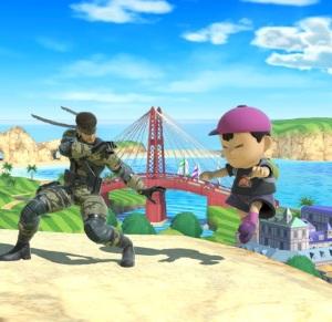 Snake vs Ness Wuhu Island Stage super Smash Bros ultimate Nintendo Switch