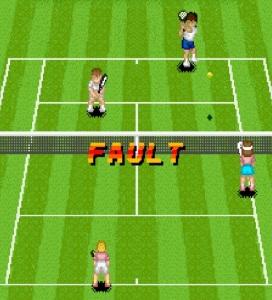 Fault message Super Tennis SNES super Nintendo