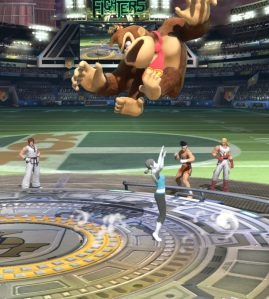 Wii fit trainer vs donkey Kong King of Fighters Stadium super Smash Bros ultimate Nintendo Switch