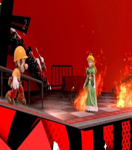 Mario vs princess peach Mementos stage super Smash Bros ultimate Nintendo Switch