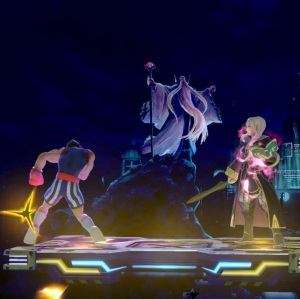 Little mac vs Robin Midgar Stage super Smash Bros ultimate Nintendo Switch SquareEnix