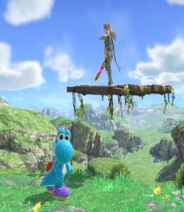 Corrin vs Yoshi Spiral Mountain Stage super Smash Bros ultimate Nintendo Switch