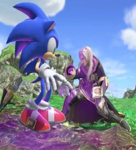 Sonic vs Robin Spiral Mountain Stage super Smash Bros ultimate Nintendo Switch