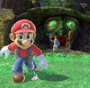 Mario vs palutena Spiral Mountain Stage super Smash Bros ultimate Nintendo Switch