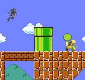 Lucina vs inkling Super Mario Maker Stage super Smash Bros ultimate Nintendo Switch