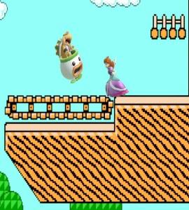 Princess Daisy vs Bowser jr Super Mario Maker Stage super Smash Bros ultimate Nintendo Switch