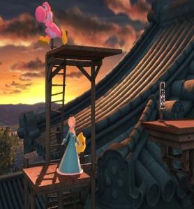 Yoshi vs rosalina and luma Suzaku Castle Stage super Smash Bros ultimate Nintendo Switch Capcom