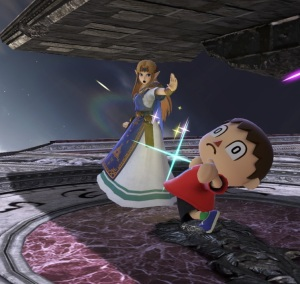 Princess Zelda vs villager Umbra Clock Tower Stage super Smash Bros ultimate Nintendo Switch Bayonetta