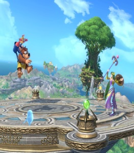 Banjo and Kazooie vs palutena Yggdrasil's Altar super Smash Bros ultimate Nintendo Switch