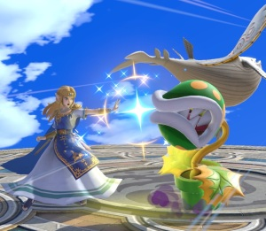 Princess Zelda vs piranha plant Yggdrasil's Altar super Smash Bros ultimate Nintendo Switch