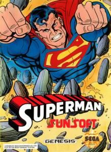Superman Sega Genesis Boxart