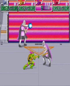 Shredder final boss battle Teenage Mutant Ninja Turtles Konami arcade game
