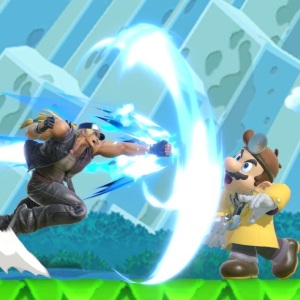 Terry Bogard punches dr Mario super Smash Bros ultimate Nintendo Switch SNK