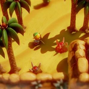 The Legend of Zelda Link's Awakening link fighting monsters in the desert Nintendo Switch