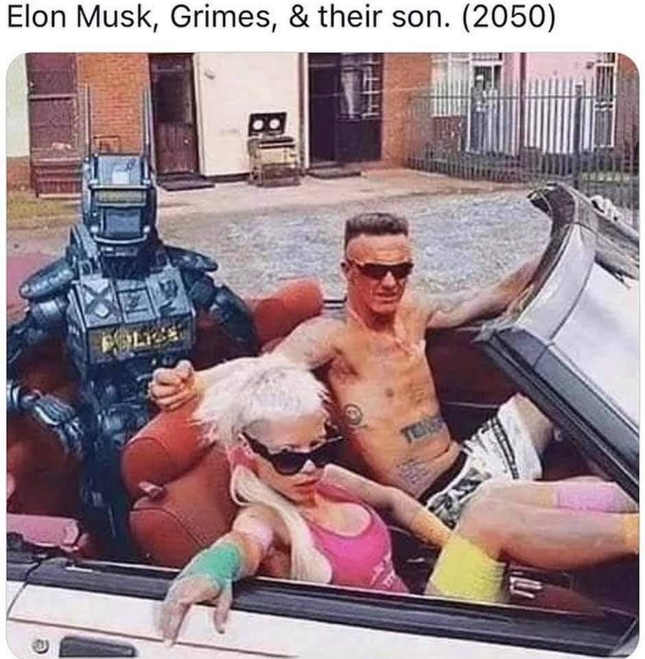 Memes Elon musk Grimes and their son