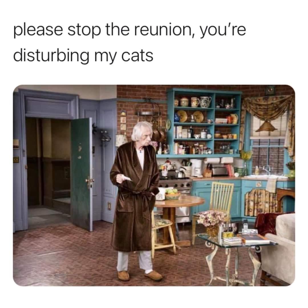 Memes The friends reunion Mr. heckles