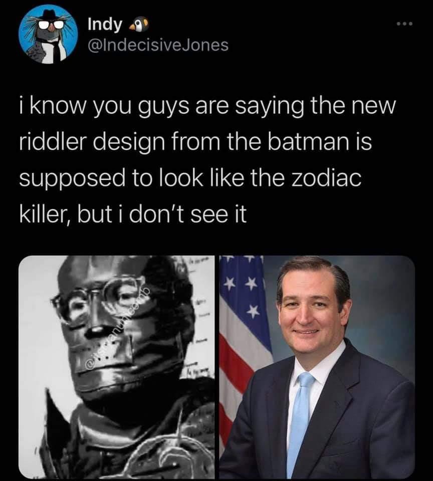 Memes Ted Cruz zodiac killer