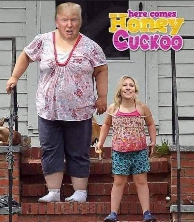 Memes marjorie Taylor green and Donald Trump honey boo-boo