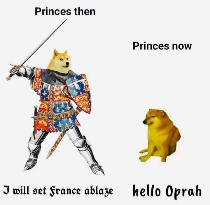 Memes Edward the black prince versus Prince Harry Windsor