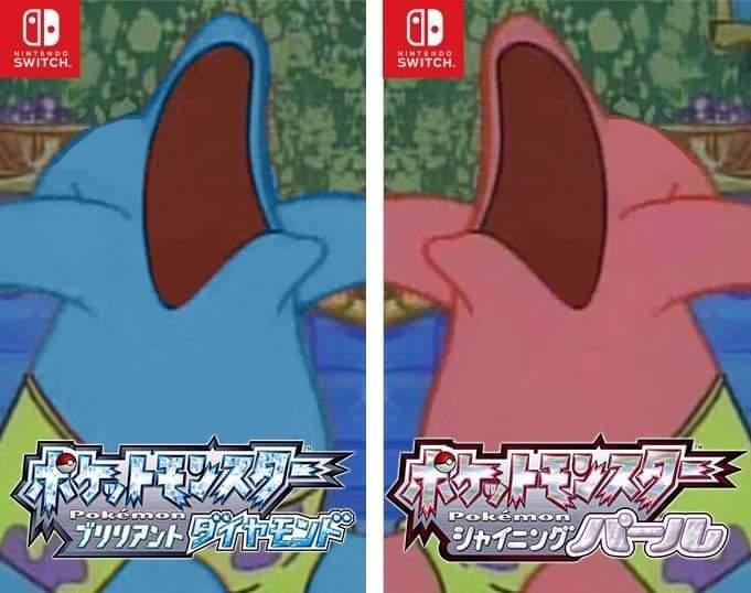 Memes Pokémon Nintendo switch Patrick star edition SpongeBob SquarePants