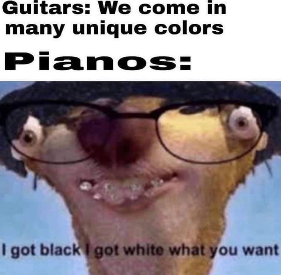Memes piano colors
