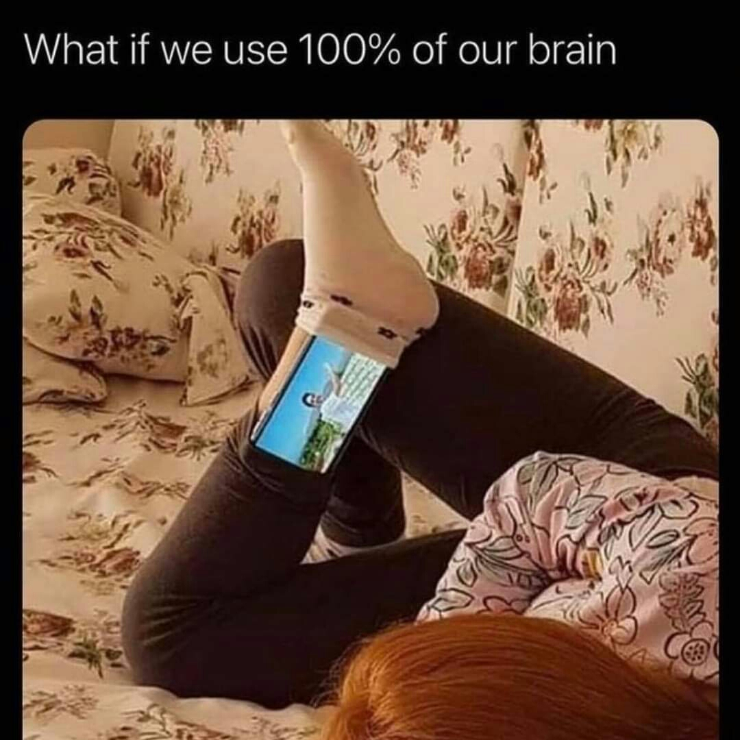 Memes using 100% of your brain