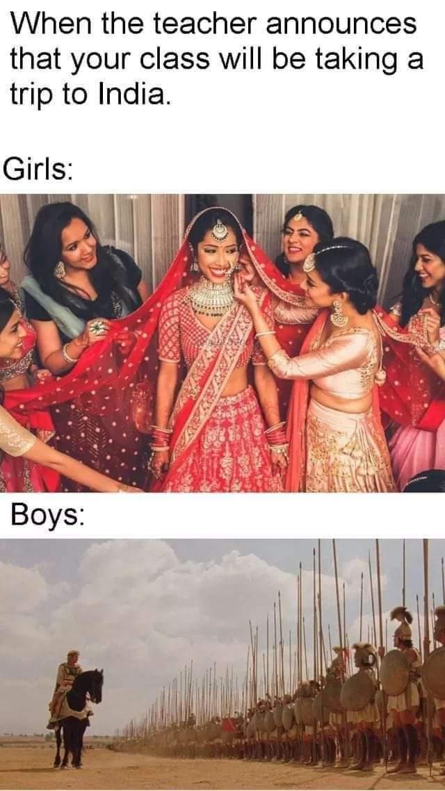 Memes visiting India