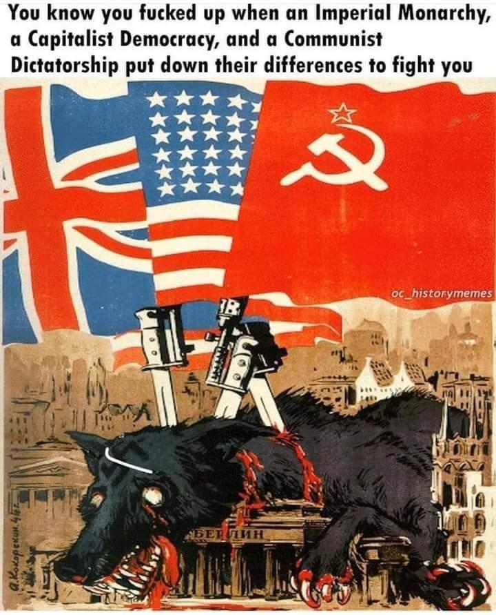 Memes World war two America UK Soviet union versus Nazi Germany