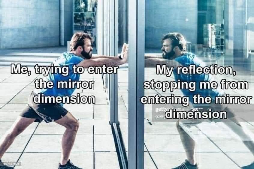 Memes entering the mirror dimension