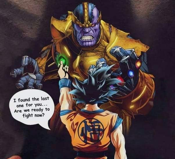 Memes dragon ball Z avengers Goku versus Thanos