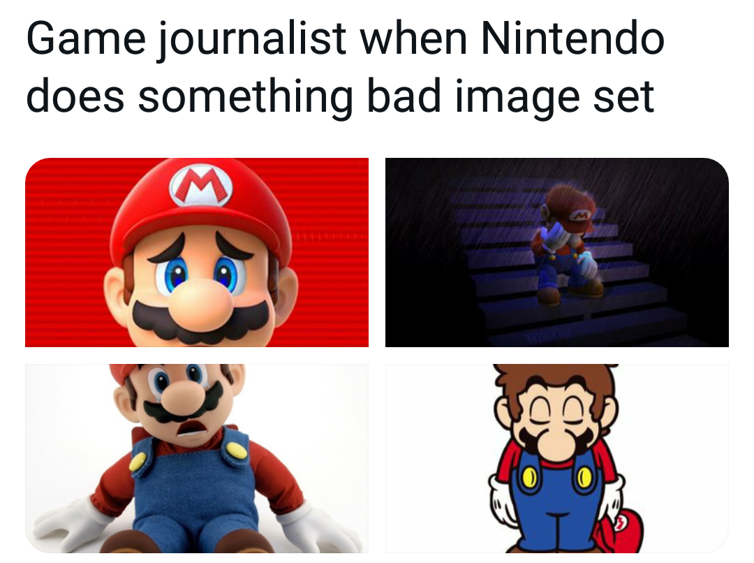 Memes sad Mario