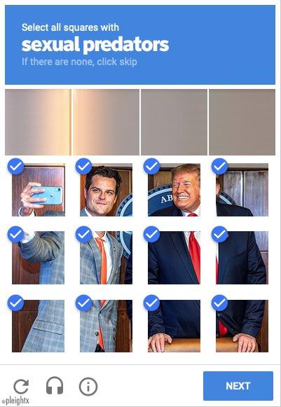 Memes republicans Matt Gaetz and Donald Trump