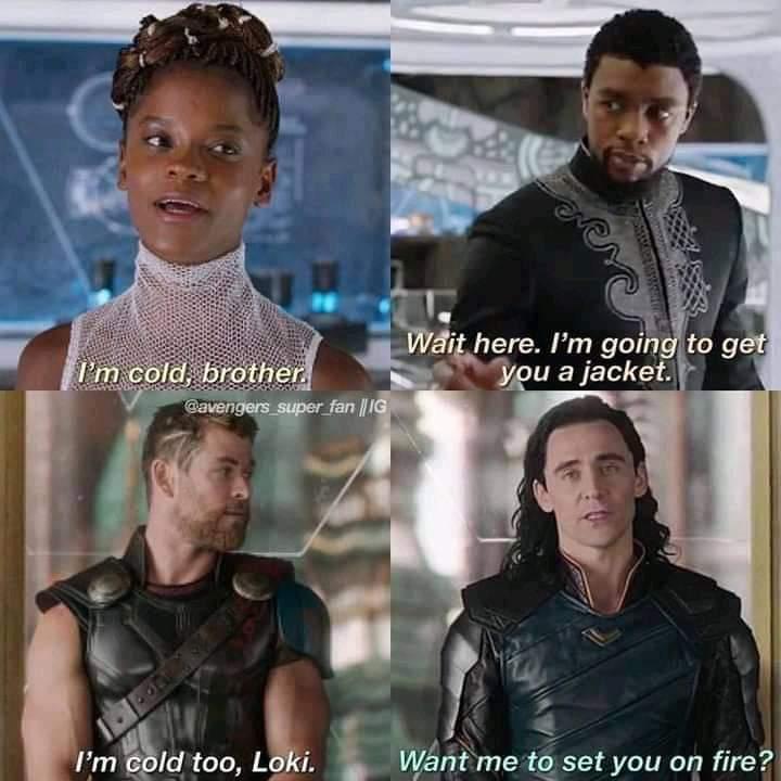Thor telling Loki he's cold meme