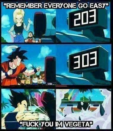 Dragon Ball Z Vegeta punching the machine memes