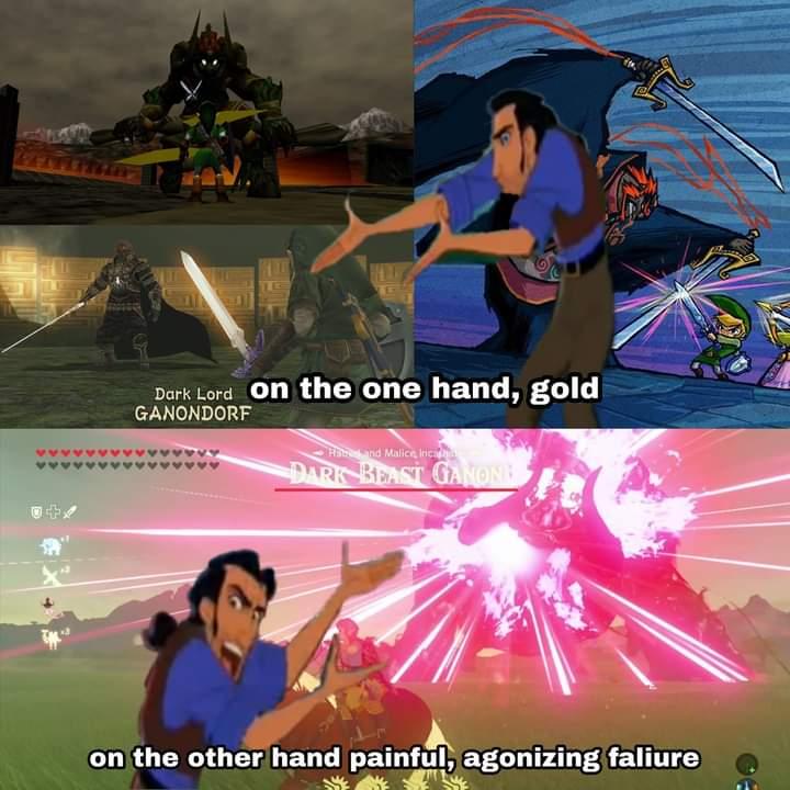 The Legend of Zelda breath of the wild Calamity Ganon memes