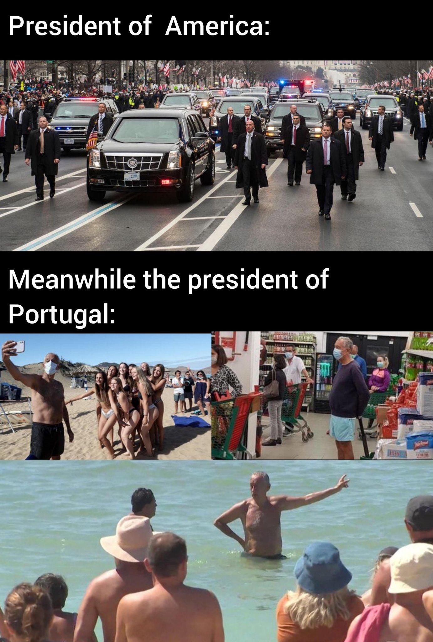 Memes president of Portugal