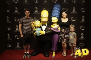 Family picture The Simpsons 4D Theater Myrtle Beach South Carolina