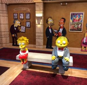 Lisa Simpson and Ralph Wiggum statues The Simpsons 4D Theater Myrtle Beach South Carolina
