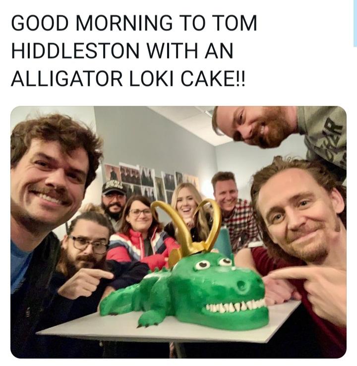 Memes alligator loki cake
