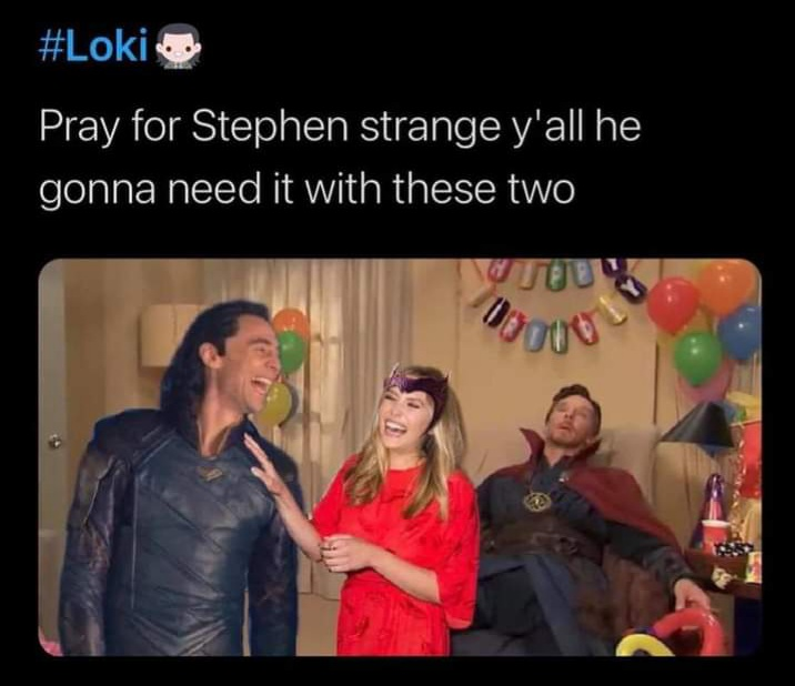 Memes Scarlet witch loki dr strange