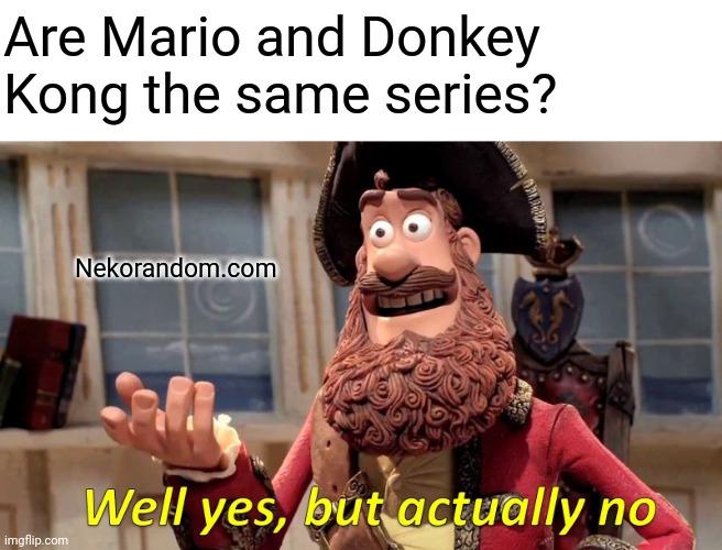 Memes Mario and Donkey Kong same series