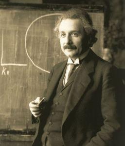 Albert Einstein as a college professor