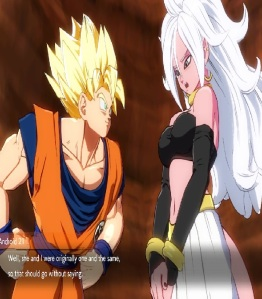 Good Android 21 meets Goku dragon Ball FighterZ Nintendo Switch Xbox One PS4