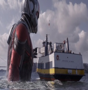 Ant-Man and the Wasp giant power in the ocean water