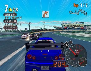 Auto Modellista PS2 blue sports car Capcom