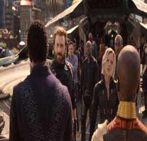 Avengers: Infinity War T'Challa welcomes captain America black widow and Bruce banner to Wakanda