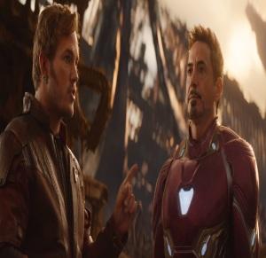 Avengers: Infinity War star lord meets Tony Stark iron man Robert Downey Jr Chris pratt