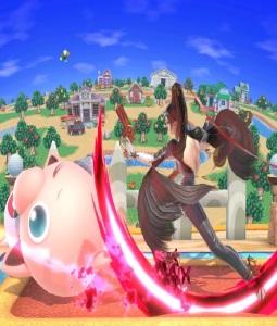 Bayonetta vs jigglypuff super Smash Bros ultimate Nintendo Switch