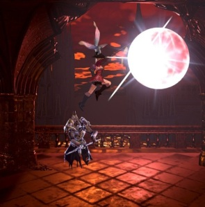 Using Zangetsu sword to destroy the moon Bloodstained ritual of the night Nintendo Switch Xbox One PS4